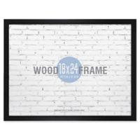Gallery 18-Inch x 24-Inch Wood Frame in Black