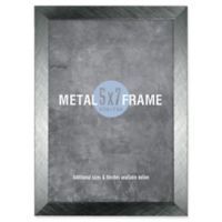 Gallery 5-Inch x 7-Inch Brushed Metal Frame in Gunmetal