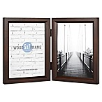 Gallery 5-Inch x 7-Inch 2-Opening Hinged Double Frame in Espresso