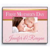 """CPS """"First Mother's Day"""" 4-Inch x 6-Inch Picture Frame in Pink"""