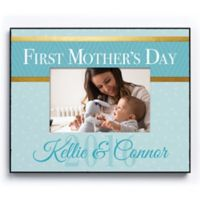 """CPS """"First Mother's Day"""" 4-Inch x 6-Inch Picture Frame in Blue"""
