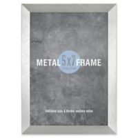 Gallery 5-Inch x 7-Inch Brushed Metal Frame in Silver