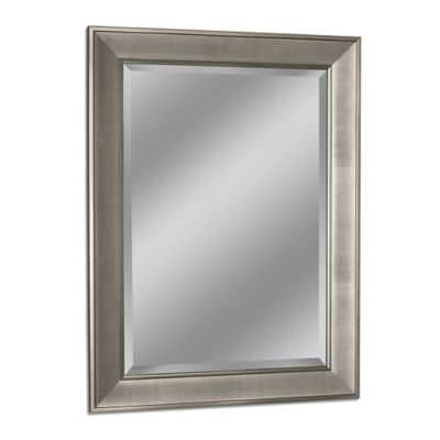Brushed Nickel Wall Mirror buy brushed nickel mirrors from bed bath & beyond