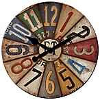 FirsTime® Vintage Plates Wall Clock in Multi