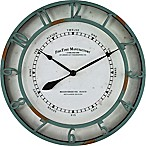 FirsTime® Timeworn Wall Clock in Aqua