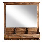 Kate and Laurel Stallard Wall Mirror with Hooks
