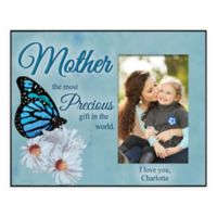 Mother Precious Gift 4-Inch x 6-Inch Personalized Picture Frame in Blue