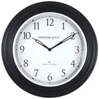 FirsTime® Richmond Whisper Wall Clock in Black