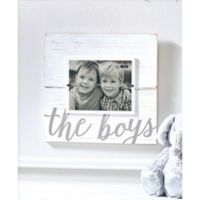 Mud Pie The Boys 8-Inch x 10-Inch Picture Frame in White