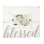 Mud Pie Blessed 4-Inch x 6-Inch Picture Frame in White
