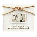 Mud Pie Hand in Hand Knot 5-Inch x 7-Inch Picture Frame in White