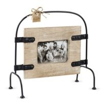 Mud Pie® 4-Inch x 6-Inch Mango Wood Picture Frame with Metal Stand