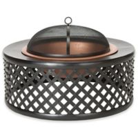 Safavieh Jamaica Wood-Burning Fire Pit in Copper/Black