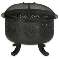 Safavieh Negril Wood-Burning Fire Pit in Black