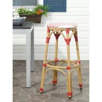 Safavieh Kipnuk Indoor/Outdoor Bar Stool in Red/White