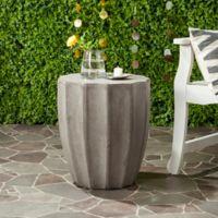 Safavieh Jaslyn Indoor/Outdoor Concrete Accent Table in Dark Grey