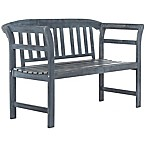Safavieh Porterville 2-Seat Outdoor Bench in Ash Grey