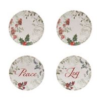 Holiday Wreath Appetizer Plates (Set of 4)