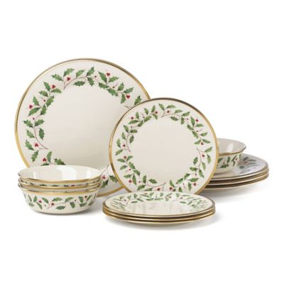 Lenox® Holiday™ 12-Piece Dinnerware Set with All Purpose Bowl  sc 1 st  Bed Bath u0026 Beyond & Buy Lenox® Holiday™ Dinnerware from Bed Bath u0026 Beyond