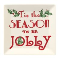 "Lenox® Holiday™ ""Tis the Season"" Square Tidbit Plate"