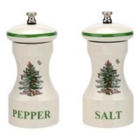 "Spode® Christmas Tree ""Salt"" and ""Pepper"" Grinders"