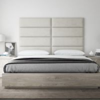 Vant 78-Inch x 46-Inch Micro Suede Upholstered Headboard Panels in Neutral