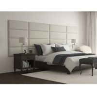 Vant 138-Inch x 46-Inch Micro Suede Upholstered Headboard Panels in Neutral