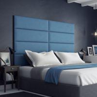 Vant 78-Inch x 46-Inch Micro Suede Upholstered Headboard Panels in Ocean Blue