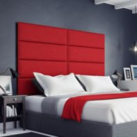 Vant 78-Inch x 46-Inch Micro Suede Upholstered Headboard Panels in Red