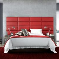 Vant 120-Inch x 46-Inch Micro Suede Upholstered Headboard Panels in Red