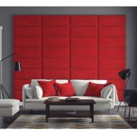 Vant 120-Inch x 92-Inch Micro Suede Upholstered Headboard Panels in Red