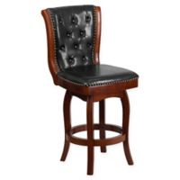 Flash Furniture 26.75-Inch Wood Counter Stool in Black/Cherry
