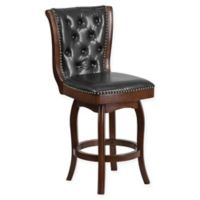 Flash Furniture 26-Inch Wood Counter Stool in Black/Cappuccino