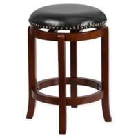 Flash Furniture 24-Inch Backless Wood Counter Stool in Black