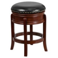 Flash Furniture 24-Inch Backless Wood Stool in Black