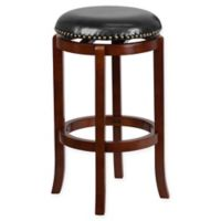 Flash Furniture 30-Inch Backless Wood Counter Stool in Black