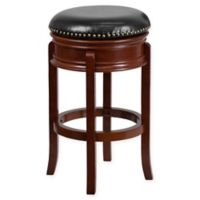 Flash Furniture 30-Inch Backless Wood Bar Stool in Black