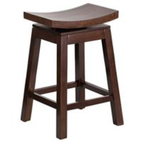 Flash Furniture Saddle Seat 26-Inch Counter Stool in Cappuccino