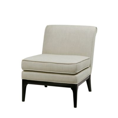 Madison Park Signature Camelle Armless Accent Chair In Ivory