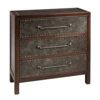 Madison Park Tracer 3-Drawer Chest in Brown