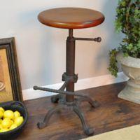 Carolina Cottage Restoration Adjustable Stool in Chestnut/Black