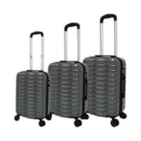 Chariot 3-Piece Wave Luggage Set in Grey