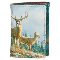 Buxton® Wildlife Autumn Whitetail Deer 3-Fold Wallet in Brown