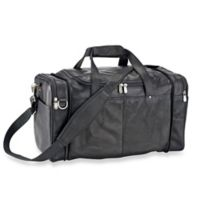 Piel Leather® 19-Inch Collapsible Duffle Bag/Carry All in Black