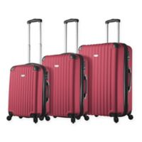 Rovigo 3-Piece Hardside Spinner Luggage Set in Burgundy