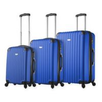 Rovigo 3-Piece Hardside Spinner Luggage Set in Blue