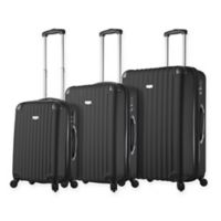 Rovigo 3-Piece Hardside Spinner Luggage Set in Black