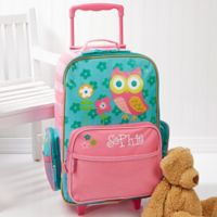 Stephen Joseph® Lovable Owl Embroidered Rolling Luggage