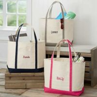The Deluxe Weekender Embroidered Name Tote