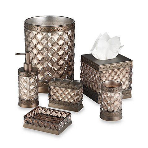 Champagne bath ensemble bed bath beyond for Bathroom ensembles sets